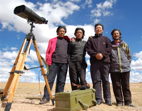 Bird survey team